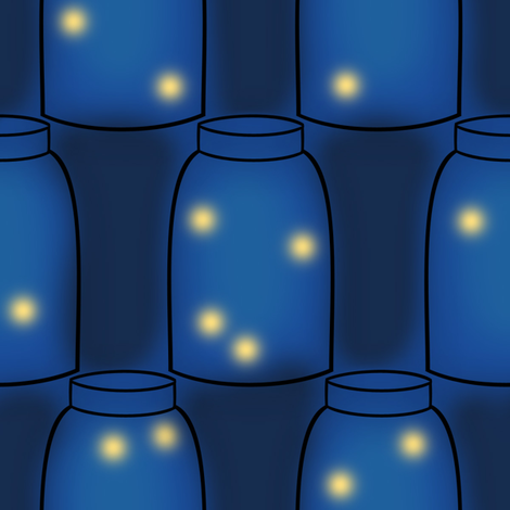 Fireflies in Mason Jars fabric by delightfuldesigns on Spoonflower - custom fabric