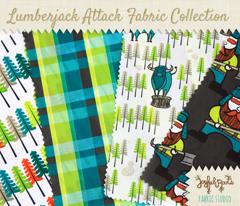 Plaid Lumberjack - Teal and Lime