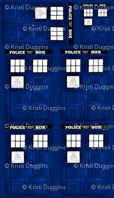 Blue Police Box Door Panel (Just the front)
