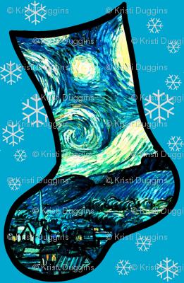 Christmas Stockings Van Gogh's Starry Night