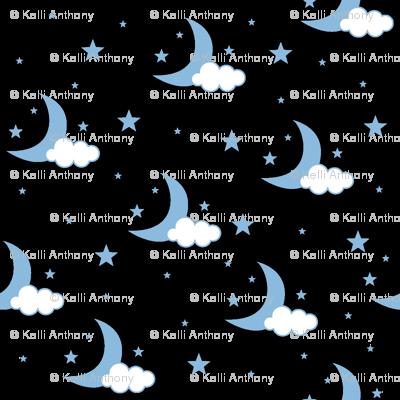 Moon, Cloud and Stars