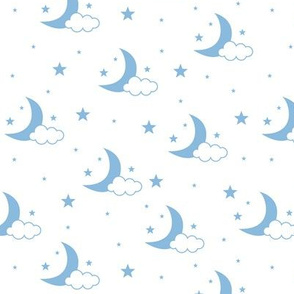Moon, Cloud and Stars