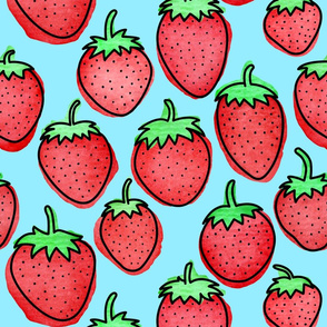 Strawberry Days - Large Blue