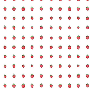 Strawberry Days - Small White