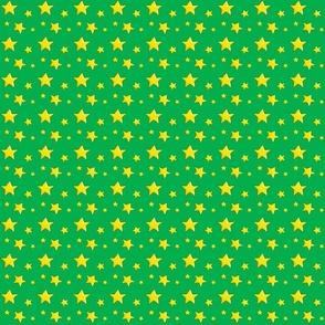 Yellow stars on Green