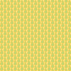 Pale Paisley Yellow/Green
