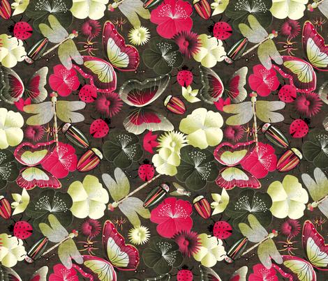 beetles and friends fabric by kociara on Spoonflower - custom fabric