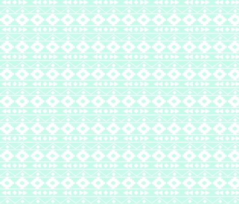 Mint tribal rows fabric by mintpeony on Spoonflower - custom fabric