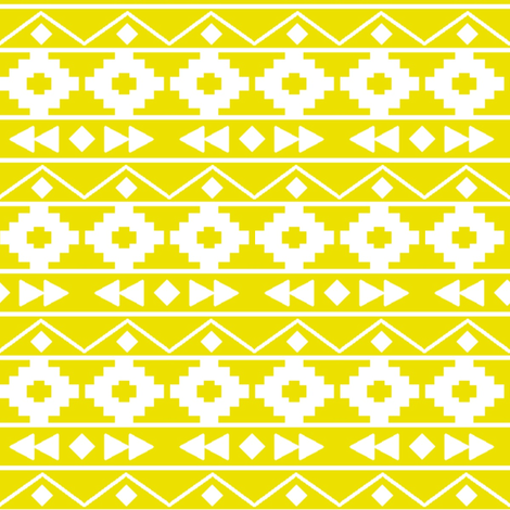 Citron tribal rows fabric by mintpeony on Spoonflower - custom fabric