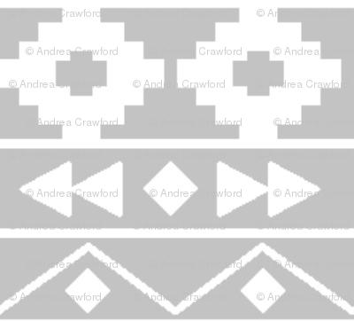Grey tribal rows