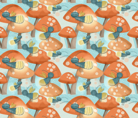 Firefly Frenzy fabric by meg56003 on Spoonflower - custom fabric
