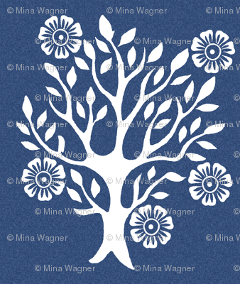 5Flowers - white-tree-stamps-3 - Spring - white-DK-BLUE