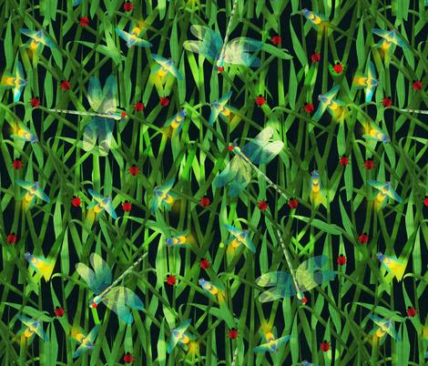 enchanted meadow fabric by kociara on Spoonflower - custom fabric