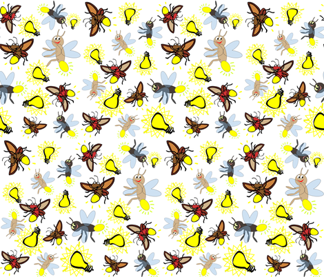 FIREFLY FRENZY fabric by bluevelvet on Spoonflower - custom fabric