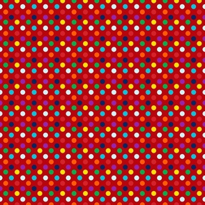 Tiny Bright dots on Red
