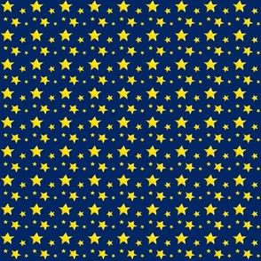 Yellow Stars on Navy Blue