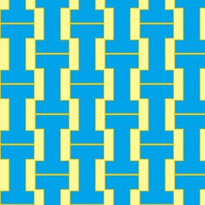 """I"" blue and yellow plaid"