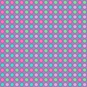 Drawn dots on purple
