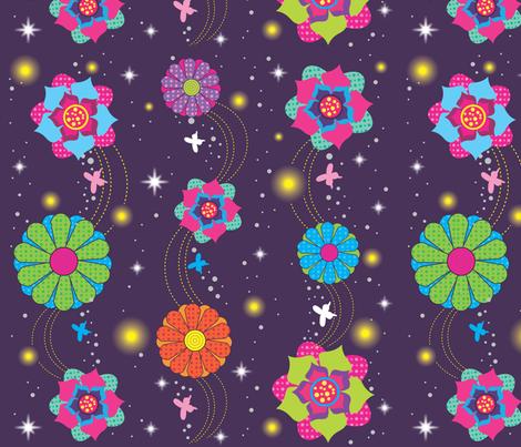 Summer night fabric by rachelee_design on Spoonflower - custom fabric