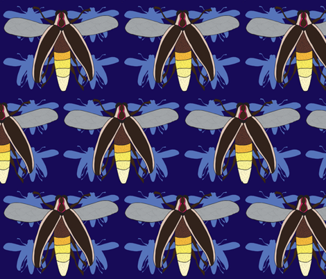 Fireflies strike back fabric by szwedo on Spoonflower - custom fabric