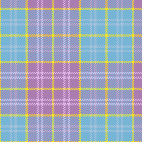 02284755 : tartan : summer flowers fabric by sef on Spoonflower - custom fabric