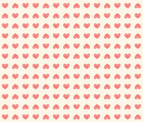 Hearts and Arrows small fabric by ellolovey on Spoonflower - custom fabric