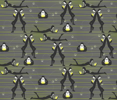 Luminescent Luminaries Illuminate - Modern Fireflies fabric by glimmericks on Spoonflower - custom fabric