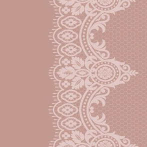Blush Lace Border