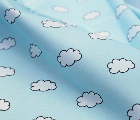 Cloudy Day in Light Blue