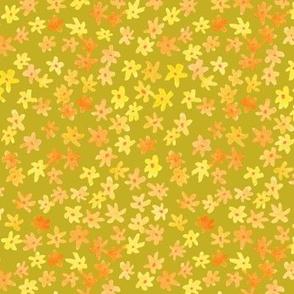 Little Watercolor Flowers | Green