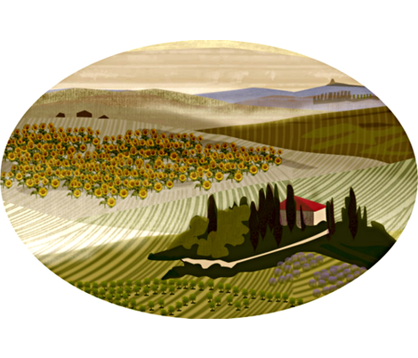 Tuscan Pillow fabric by glimmericks on Spoonflower - custom fabric
