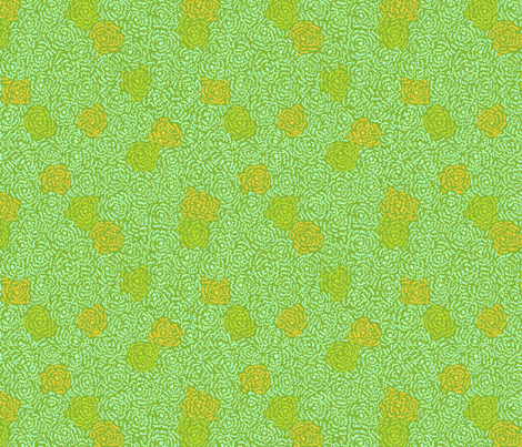 Firefly Flowers | Bright Green fabric by imaginaryanimal on Spoonflower - custom fabric