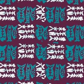 Fish Batik  blue
