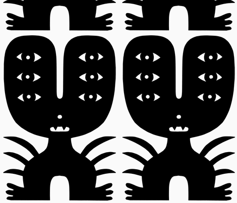 Six Eyed Monster With Six Eyes fabric by jad_fair on Spoonflower - custom fabric