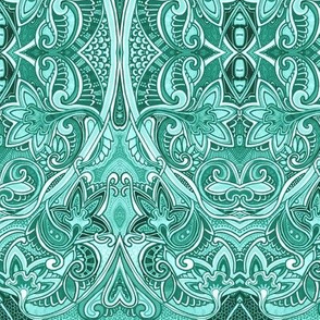 Attack of the Turquoise Paisley