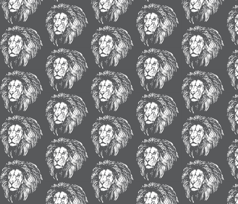 BIG LIONS fabric by indienook on Spoonflower - custom fabric