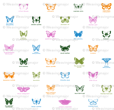 butterfly alphabet - butterfly contest palette