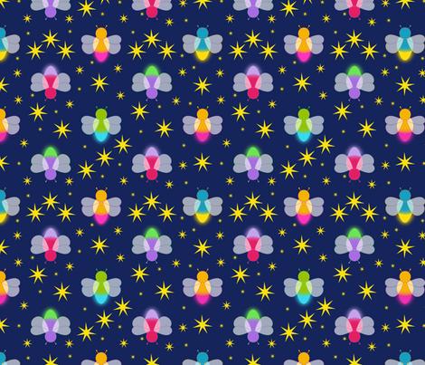 Fireflies fabric by alexsan on Spoonflower - custom fabric