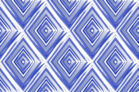 diamonds_lines_watercolor_blue fabric by danikaherrick on Spoonflower - custom fabric