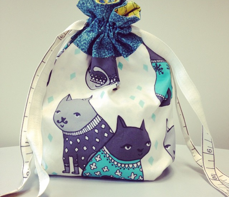 Cats at a Sweater Party - Tiffany Blue/Greys by Andrea Lauren