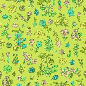Exploded Flower Garden | Bright Green