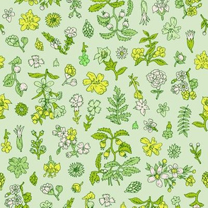Exploded Flower Garden | Green/Yellow