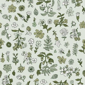 Exploded Flower Garden | Grey