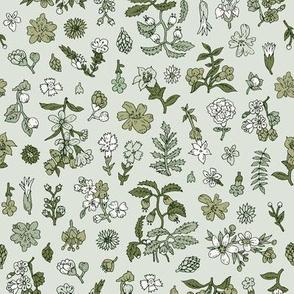 Exploded Flower Garden | Grey