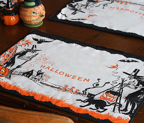 Vintage Halloween Placemats
