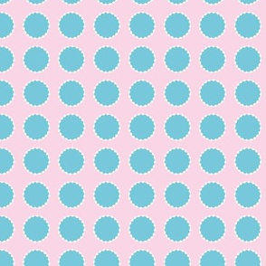 Blue on Pink Dot