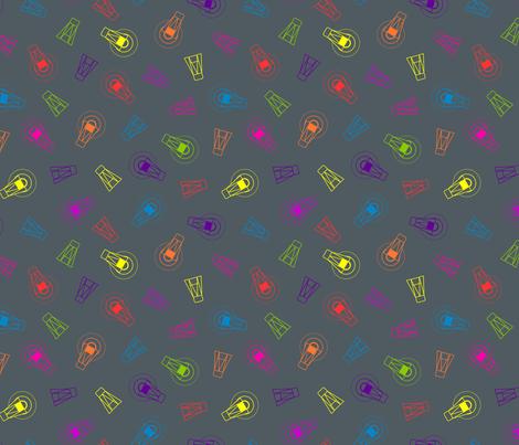 Neon Firefly Scatter fabric by modgeek on Spoonflower - custom fabric
