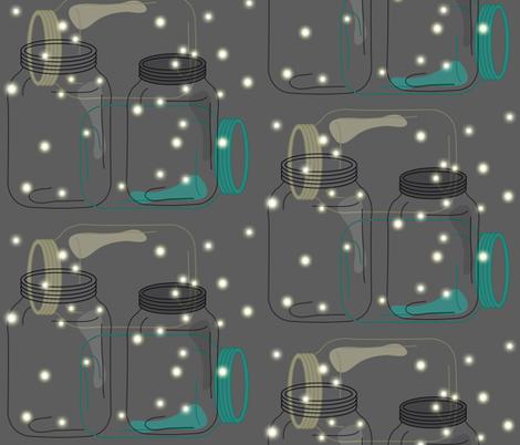 Night Life Fireflies fabric by karigari on Spoonflower - custom fabric