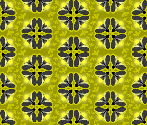 Fancy Fireflies fabric by debbzilla on Spoonflower - custom fabric