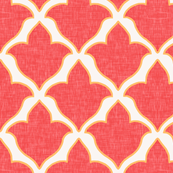 Fleur, in Bright Coral and Tangerine